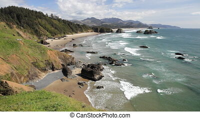 Cannon Beach - View of Cannon Beach, Oregon