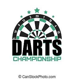 Darts label. Badge Logo. Darts sporting symbols. Darts,...