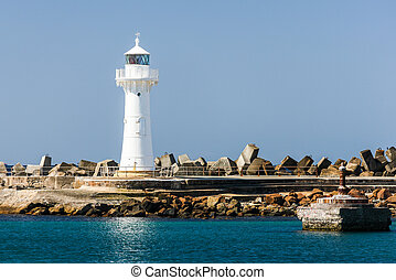 Wollongong Breakwater Lighthouse - Lighthouse at entrance to...