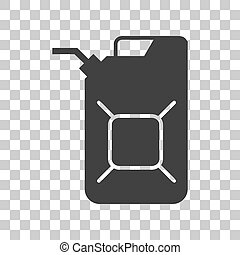 Jerrycan oil sign Jerry can oil sign Dark gray icon on...