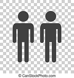 Gay family sign Dark gray icon on transparent background