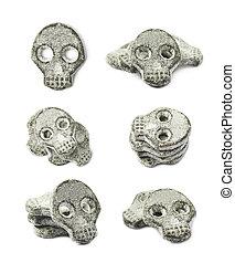 Skull shaped licorice candy - Skull shaped salt coated...