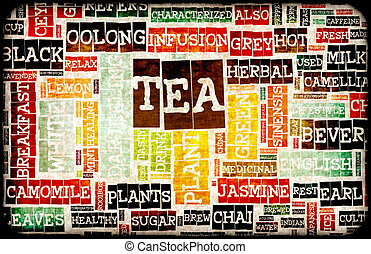 Assorted Teas Menu as a Food Drink Background