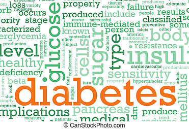 Diabetes Illness Concept with a Terminology Art