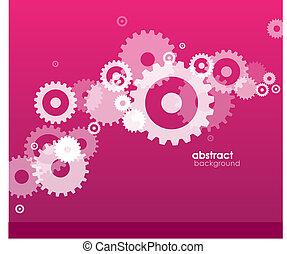 abstratos, fundo, rodas