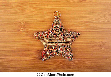 Wickered Christmas star - Decorative wickered Christmas star...