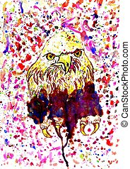 Grunge Eagle Sketch - Hand drawn grunge sketch illustration...