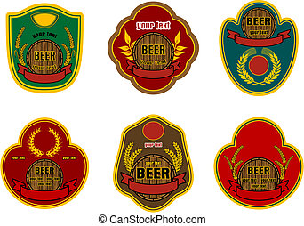 Beer labels - Set of beer labels for decorate and design