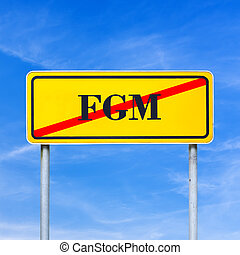 Conceptual image for protection of human rights - FGM...