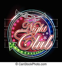 Neon Light signboard for Night Club