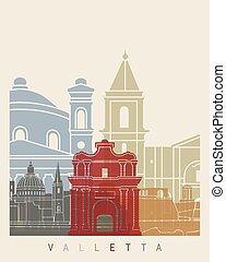 Valletta skyline poster