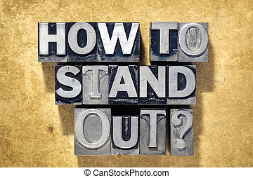 how to stand out question made from metallic letterpress...