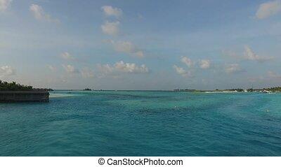 sea shore of maldives beach