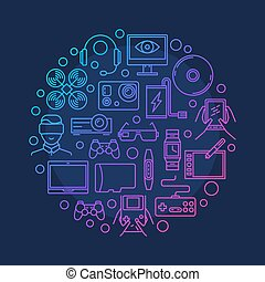Electronic devices and gadgets symbol