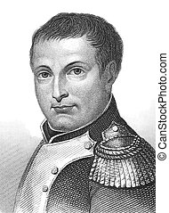 Napoleon Bonaparte (1769-1821) on engraving from the 1800s....