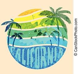 California beach Typography Graphics. T-shirt Printing...