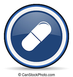 drugs round glossy icon, modern design web element