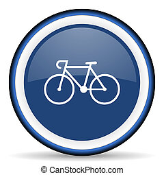 bicycle round glossy icon, modern design web element