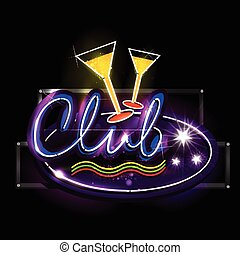 Neon Light signboard for Club