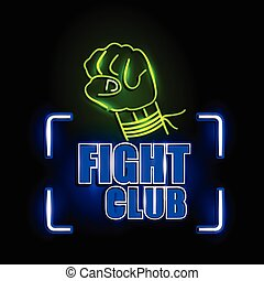Neon Light signboard for Fight Club