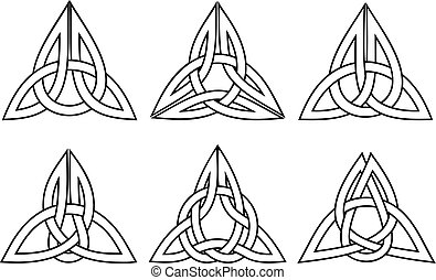 celtic trinity knot set - vector celtic trinity knot set,...