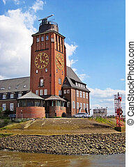 Hamburg Lotsenhaus - Hamburg, Germany - May 24, 2008:...