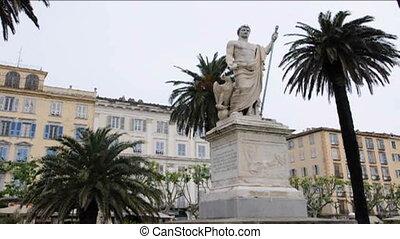 statue Napoleon Bastia Corsica - statue Napoleon Place St....