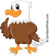 cute eagle cartoon - illustration of cute eagle cartoon