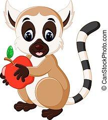 cute lemur cartoon - illustration of cute lemur cartoon