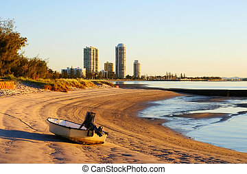 Runaway Bay Gold Coast Australia - View of Runaway Bay on...