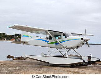 seaplane - a seaplane at the coast