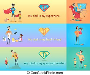 Super Dad with his Kids - Dads day Super dad with his kids...