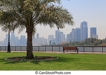 sight of Sharjah from pedestrian walkway