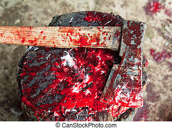 bloody ax - a Bloody Ax close up