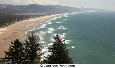 Oregon Coast - View of Manzanita Beach, Oregon