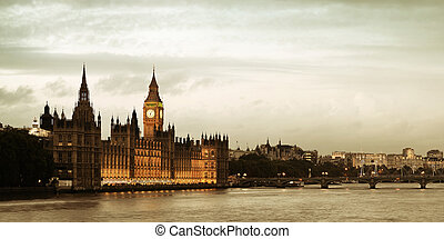 Westminster with House of Parliament, London
