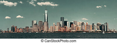 Manhattan downtown skyline