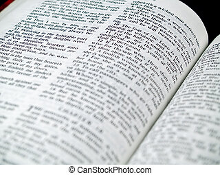 The Bible opened to the Book of Proverbs