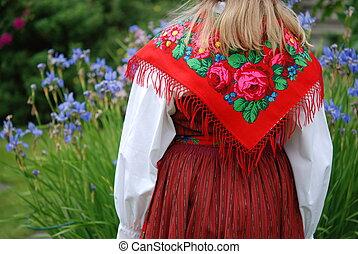 traditionnel, suédois, déguisement