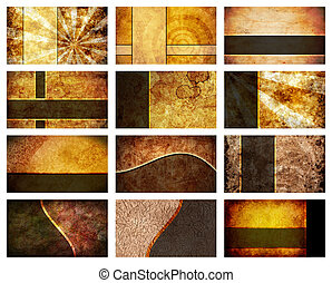 Twelve Business Card Backgrounds set - A collection of 12...