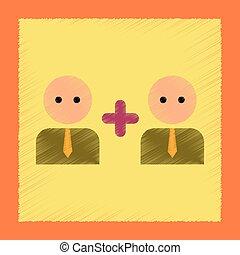 flat shading style icon gay family - flat shading style icon...