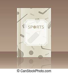 Realistic design element Book about the sport - Book about...
