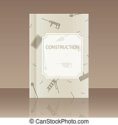 Realistic design element Book about the construction - Book...