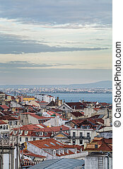 lisbon tejo river - view off the lisbon tejo river and...