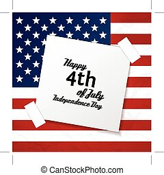 Vector independence day badge poster retro vintage