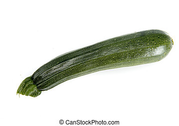 courgette - green courgette vegetable on a white background