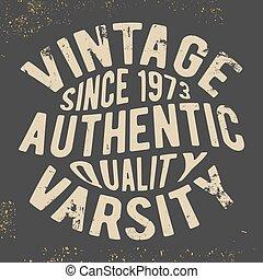 Vintage varsity stamp - T-shirt print design. Vintage...