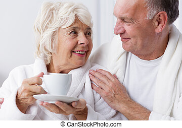 Small gestures make a big sensation - Older woman is...