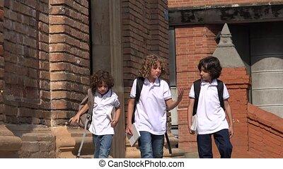 Elementary School Kids Talking