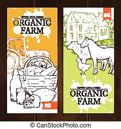 Organic Farm Vertical Banners - Support local farmers...